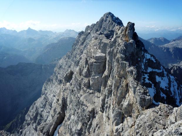 Blick auf die Südspitze. Links die Ostwand vom Watzmann