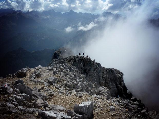 Der Abstieg von der Südspitze des Watzmann hat es in sich.