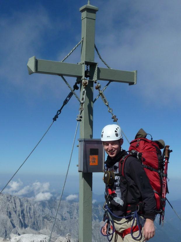 Nach sechs Stunden Klettersteig glücklich auf der Südspitze vom Watzmann (Alle Rechte Vorbehalten)