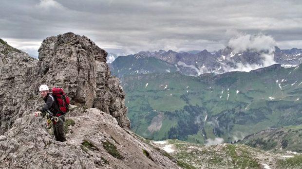 Koblatt und Hauptkamm vom Hindelanger Klettersteig aus. (Alle Rechte vorbehalten)